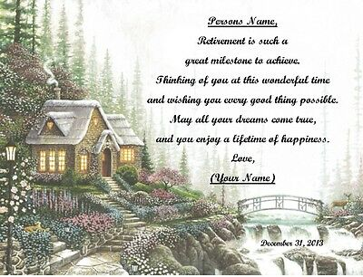 Retirement Gift for that Special Person ~ Personalized Poem Gift ~ Cottage Print