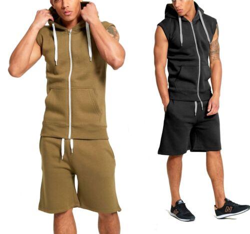Trainingsanzug Jogginganzug Kurz Shorts Sporthose Shirt Hoodie Kapuze Fitness & Jogging Fitnessmode