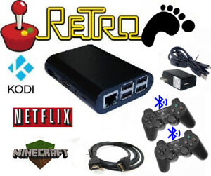 Raspberry-Pi-retro-gaming-emulator-2-ps3-controllers-64gb-sd-card-Retropie