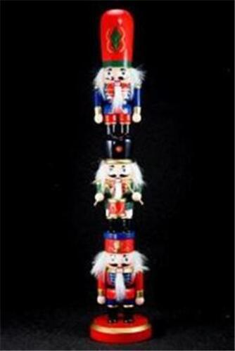 "15/"" TOTEM Nutcracker 3 4-5/"" Crackers Stacked Red Green Blue Lever Backs 155213"