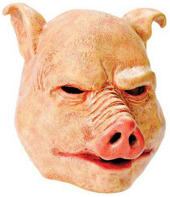 Boland Horror Pig Latex Halloween Mask Pink