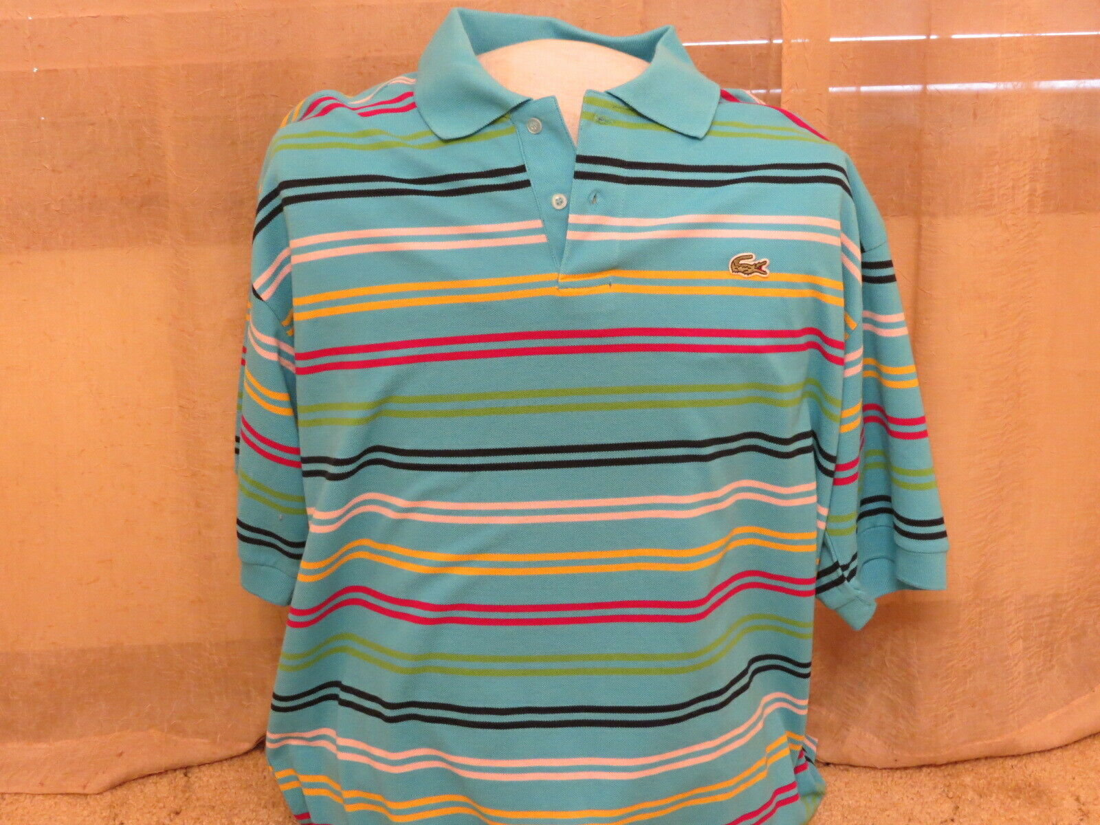 Lacoste Sports Men's Polo, Size 8 - 2XL, bluee w  Stripes,