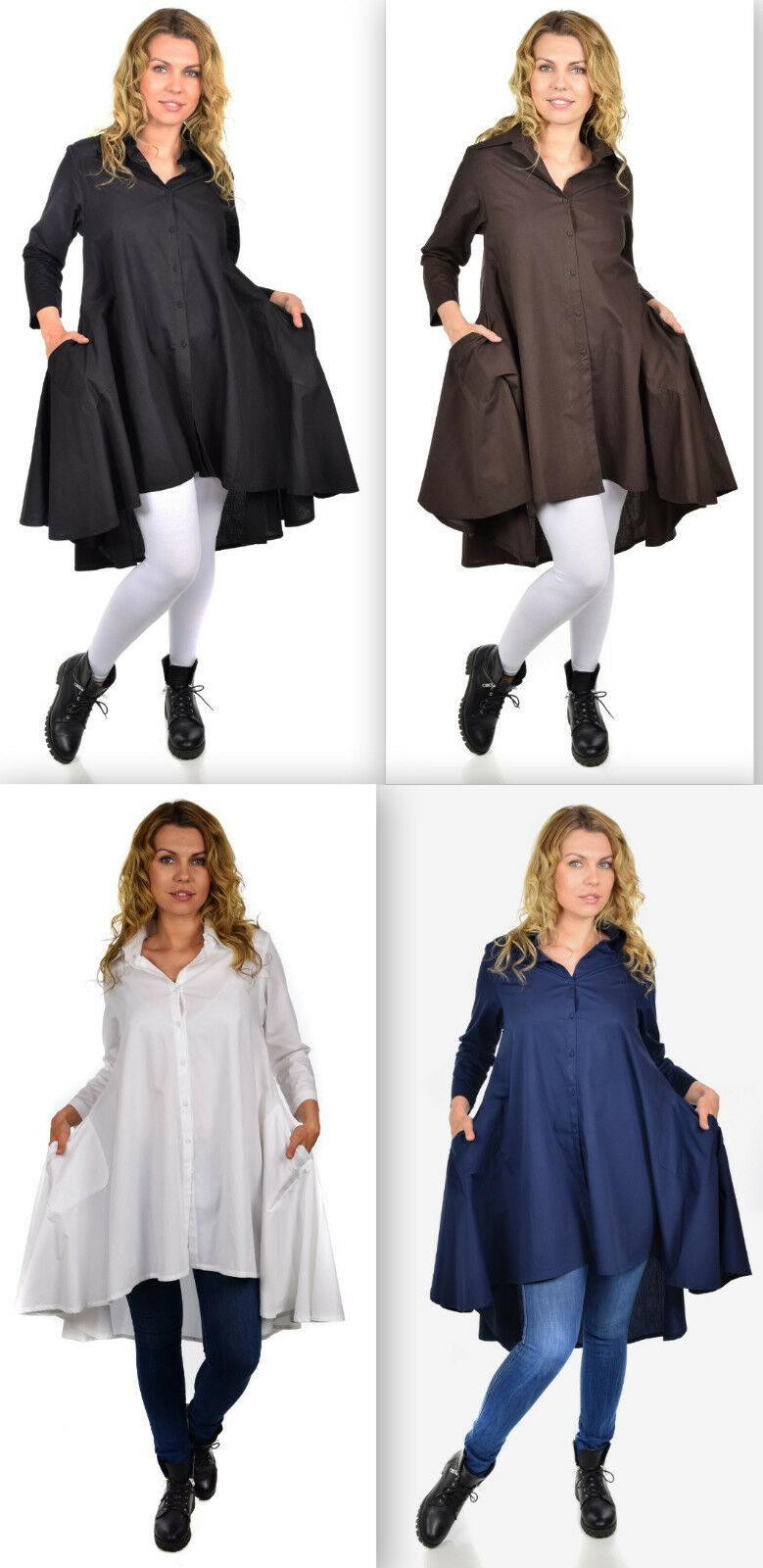 Boho,Country,Western all Cotton Designer Hi Low Plus Size and Regular size shirt