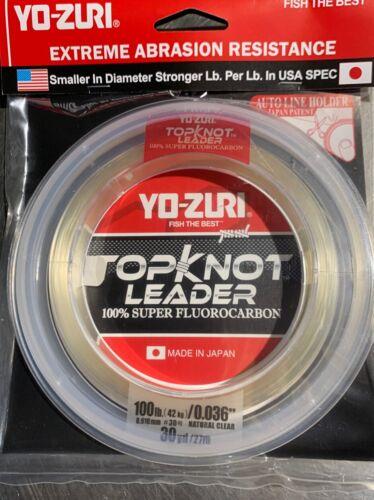 YO-ZURI TOPKNOT LEADER 100lb 30 Yds 100/% Super Fluorocarbon X2
