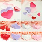 100pcs Padded Satin Heart Wedding Party Venue Decorations Table Scatter Confetti