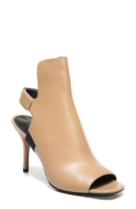250 size 7.5 Via Spiga Ida Cutout Bootie Desert Leather Heel Sandals shoes