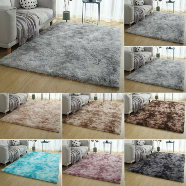 Shaggy Fluffy Area Rugs Floor Carpet Living Room Bedroom Soft Fully Large Rug