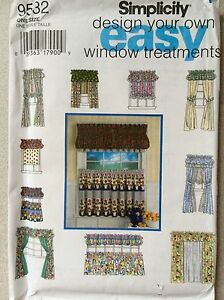 easy window treatments high image is loading simplicitypattern9532easywindowtreatmentstosew simplicity pattern 9532 easy window treatments to sew nip uncut ebay
