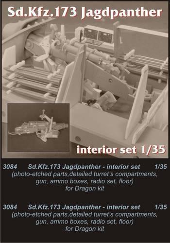 precioso Czech Master 1 35 Jagdpanther Jagdpanther Jagdpanther Interiore Set per Dragon Kit  3084  perfecto