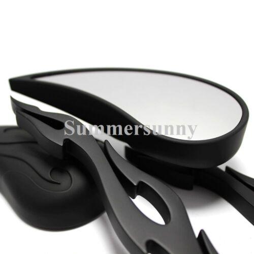 Tear Drop Black Motorcycle Mirrors For Harley Davidson XL Sportster 1200 Custom
