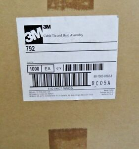 3m Cable 792 Tie And Mounting Base Assembly 1000 Pieces USA