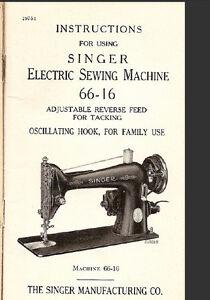 singer 66 16 sewing machine