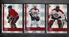 2001-02 Pacific Heads Up Montreal Canadiens Team Set (3) Jose Theodore Etc.