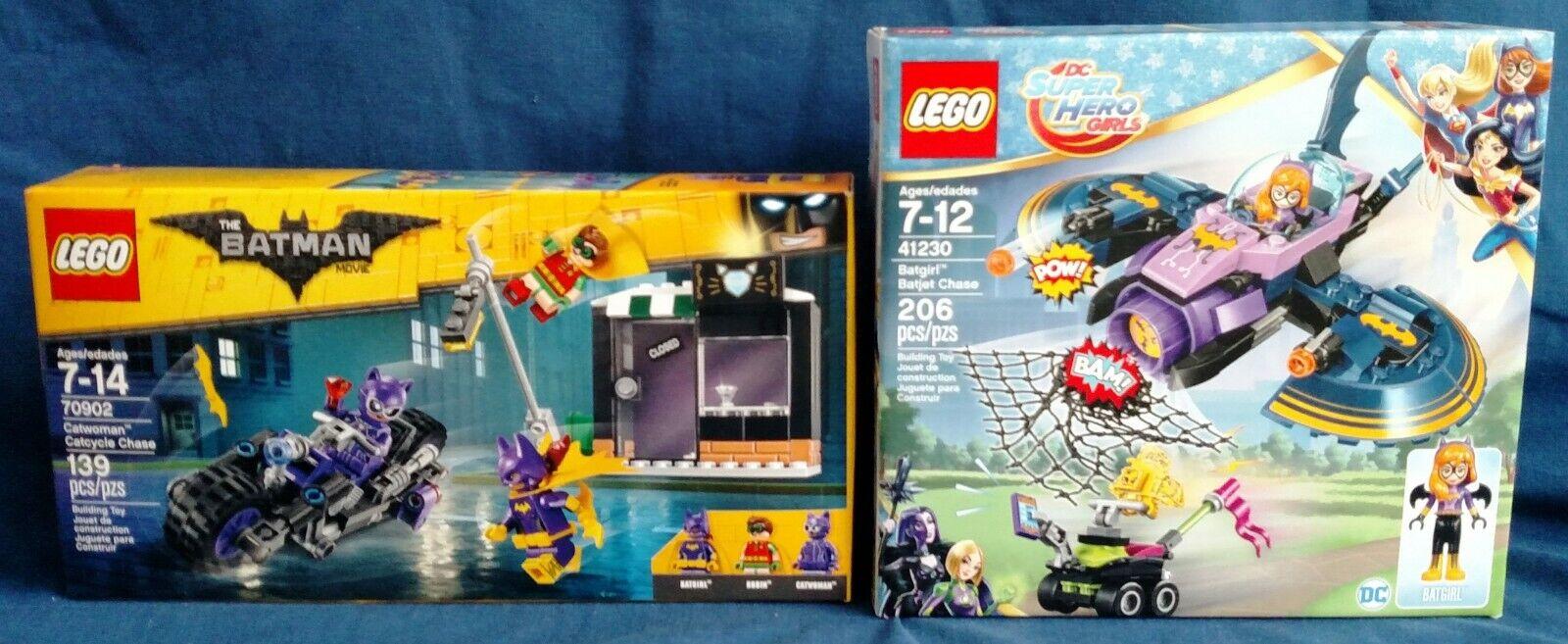 LEGO 70902 Catwoman Catcycle Catcycle Catcycle Chase & 41230 Batgirl Batjet Chase 034231