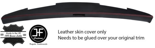 RED STITCH TOP DASH REAL LEATHER COVER FOR MINI CLASSIC ROVER COPPER STYLE 2