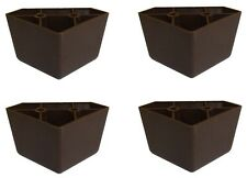 Admirable Brown Triangle Plastic Sofa Legs Set Of 4 Best Image Libraries Weasiibadanjobscom