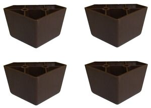 Furniture Legs Sofa set of 4 universal dark brown plastic furniture triangle legs