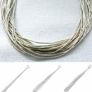 925878ded41bd Details about BEAUTIFUL LIQUID STERLING SILVER NECKLACE BRACELET 5, 10 or  20 STRAND 7