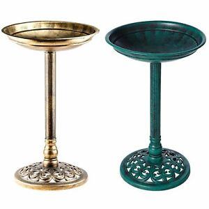 Traditional-Bird-Bath-Pedestal-Water-Weather-proof-Table-Outdoor-Garden-Ornament