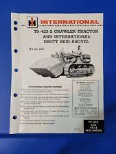 International Harvester Drott 4 in 1 Skid Shovel T-340 Crawler Dealer/'s Brochure