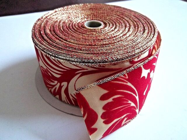 "5 Yards Happy Birthday Party Presents Gifts Satin Wired Ribbon 1 1//2/""W"