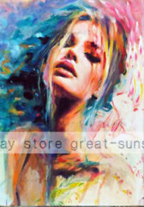 CHENPAT696-100-hand-paint-abstract-fancy-girl-oil-painting-portrait-art-canvas