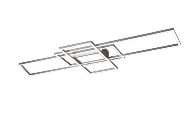 Trio LED-Deckenleuchte 1flg IRVINE  Nickel matt Fernbedienung Farbwechsler