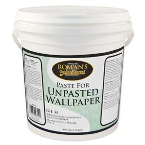 Details About Wallpaper Paste Glue Adhesive Wall Paper Covering Low Voc Non Staining 1 Gal