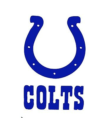 Indianapolis Colts Football Logo Vinyl Decal Sticker Car ...