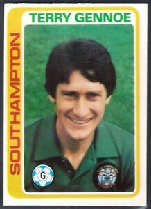 TOPPS-FOOTBALL -#342- SOUTHAMPTON PALE BLUE BACK 1979 TERRY GENNOE