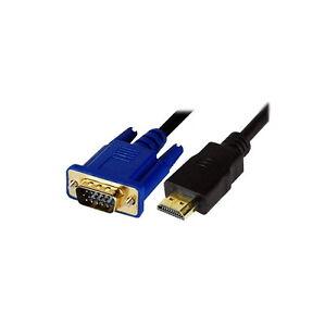 2M-HDMI-Male-to-SVGA-VGA-M-Converter-A-V-Cable-Lead-GOLD-PLATED