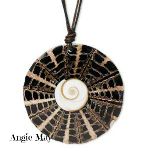 Pick your color Stunning Cone Shell Shiva Eye Necklace