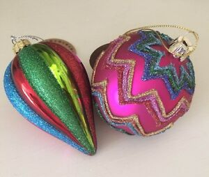 Christmas-Chevron-Glitter-Bauble-or-Circus-Tent-Droplet-Bauble-by-Sass-amp-Belle
