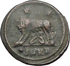 CONSTANTINE I Romulus Remus Wolf Rome Commemorative Ancient Roman Coin i57419
