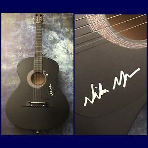 GFA Good Time & Paradise to Me NIKO MOON Signed Acoustic Guitar PROOF N3 COA