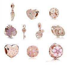 Genuine Pandora 925 ALE Rose Gold Bracelet Charm Bead 18k ALE R MET