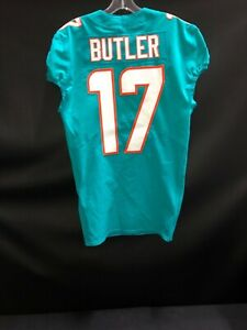 17-BRICE-BUTLER-MIAMI-DOLPHINS-NIKE-GAME-USED-AQUA-JERSEY-SZ-40-YR-2018