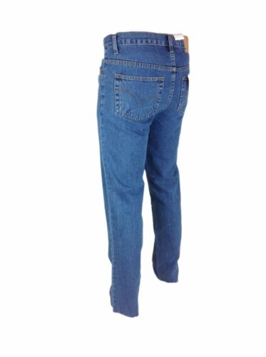Da Uomo Slim Fit Originale Super Di Base Denim Jeans w28-40 Nero Blu Semplice Casual