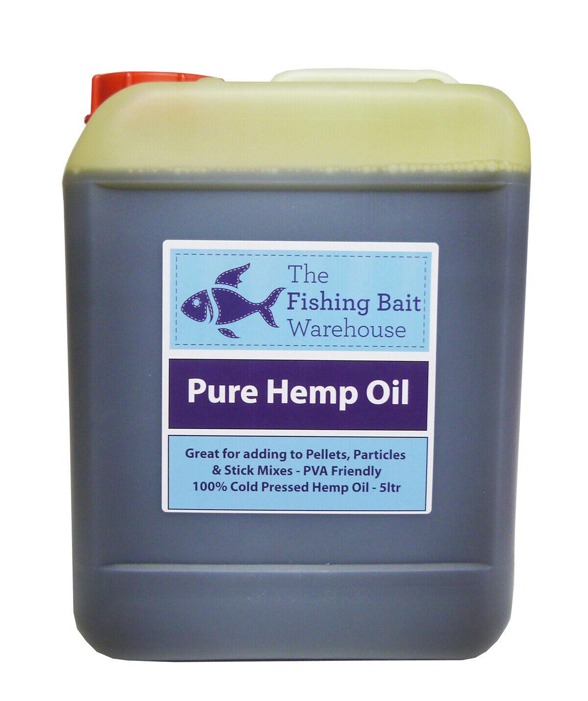 100% puro aceite de cáñamo 5ltr-cebo de pesca, Cochepa, Bait Dip, PVA amistoso - 5 litros