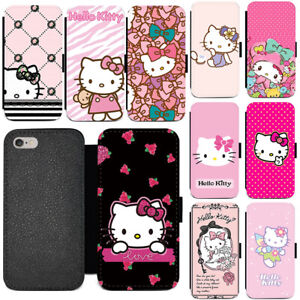 Cartoon-Hello-Kitty-Pink-Leather-Wallet-Phone-Case-Cover-For-iPhone-Google-Moto