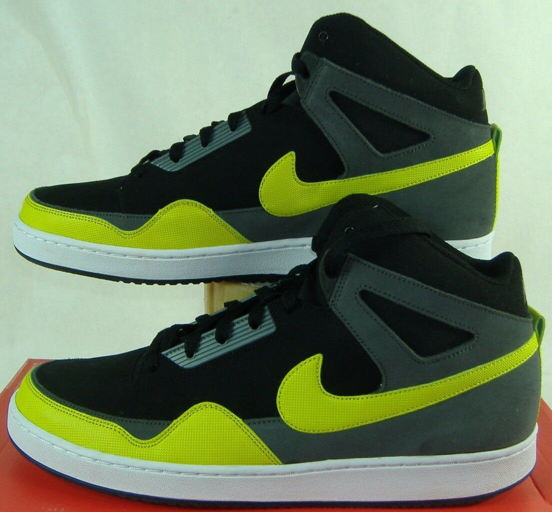 New homme Mid 11 NIKE Alpha Baller Mid homme noir Gray Green Leather chaussures 80 487858-011 51a44c