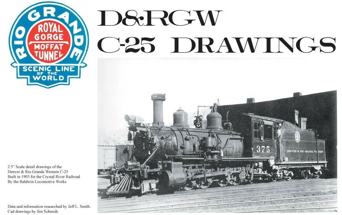 2.5  scale C-25 engine detailed drawings by Jeff Smith and Jim Schmidt 8.5 x11