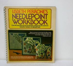 LISBETH-PERRONE-039-S-NEEDLEPOINT-BOOK-40-DESIGNS-VINTAGE-1973-FIRST-EDITION