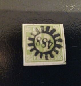 Bayern-9-Kreuzer-gruen-Mi-Nr-5III-klarer-gMR-034-488-034-Simbach-am-Inn