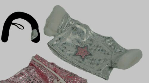 """TEDDY BEAR Girls Rock Star Outfit CLOTHES Fit 8/""""-10/"""" Build-a-bear NEW FREE SHIP"""