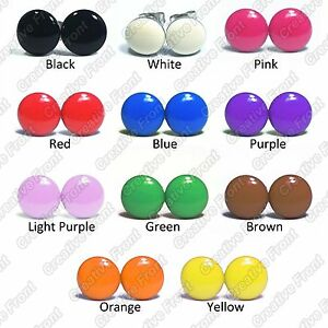 Plain-Coloured-Solid-Colour-Stainless-Steel-Stud-Earrings-Mens-Womens-Fashion