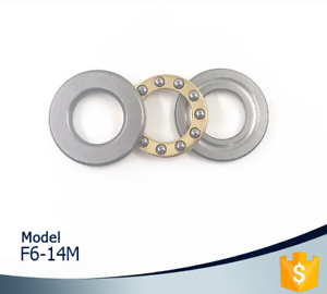 5Pcs F6-14M Bearing 6x14x5mm ABEC-1 Miniature Axial Thrust Bearings F6-14 M