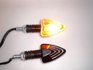 Halogen Alu CHAFT Blinker SOUND  indicators getöntes Glas Glass smoke  E-gep.