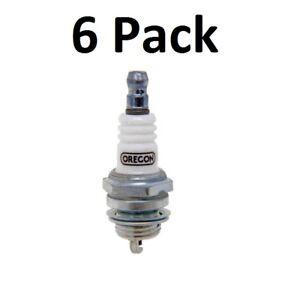 (6) Oregon 77-324-1 Spark Plug for RCJ7Y Champion NGK BPMR7A