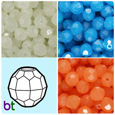 BeadTin Opaque 4mm Faceted Round Craft Beads 1250pcs Color choice